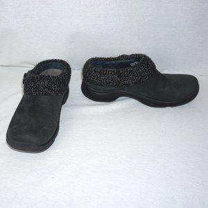 DANSKO Kenzie Black Nubuck Clogs Shoes 38